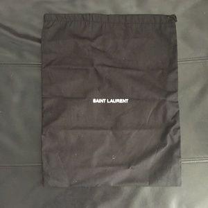 saint laruent dust bag black for shoes